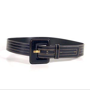 Escada Vintage 90's Black and Gold Belt